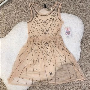 Size Small Sheer Mesh beaded cover up dress
